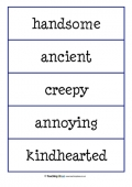 Adjective and Animal Labels