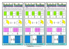 Equivalent Fractions Bookmarks 1