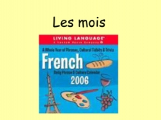French Months