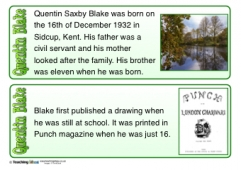 Quentin Blake Fact Cards