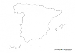 Spain Outline Map