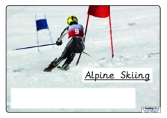 Winter Olympics Sports - Blank Boxes