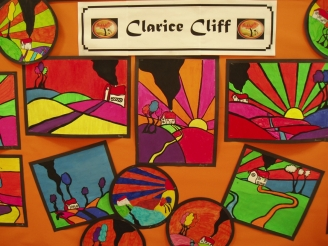 Clarice Cliff Display