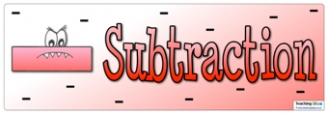 Subtraction Banner