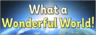 What a Wonderful World! Banner