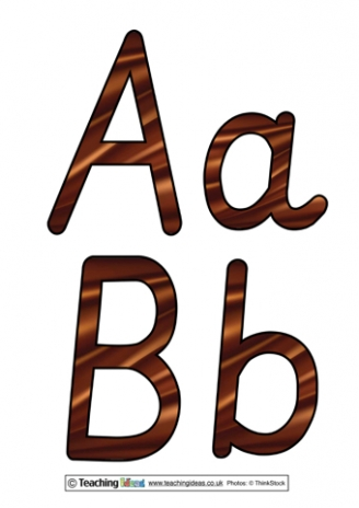 Chocolate Display Letters
