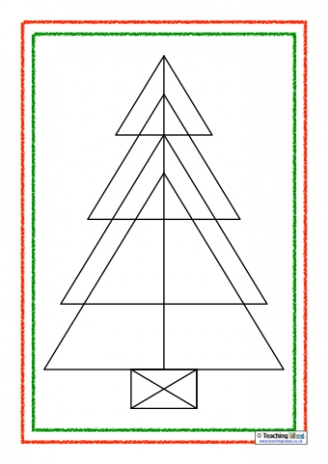 Christmas Tree Triangles Puzzles