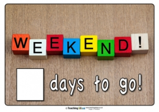 Countdown to the Weekend Poster