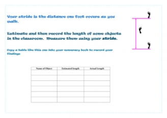 Estimating and Measuring with your Stride