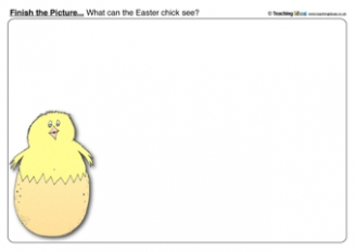 Easter Chick - Finish the Picture