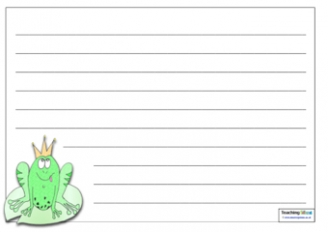 Frog Writing Template