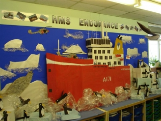 HMS Endurance in Antarctica Display