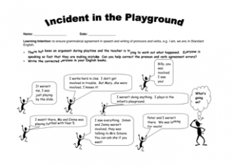 Incident in the Playground