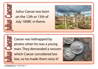 Julius Caesar Fact Cards
