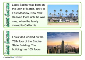 Louis Sachar Fact Cards