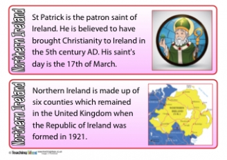 Northern Ireland Fact Cards