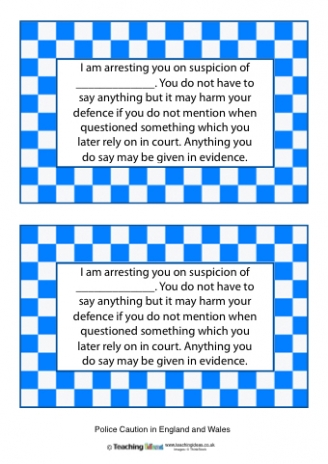 Police Caution and Oath