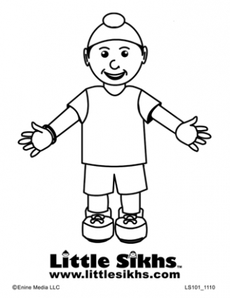 Sikh Boy Colouring Page