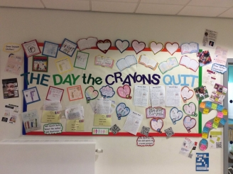 The Day the Crayons Quit Classroom Display