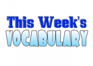 This Week's Vocabulary Poster