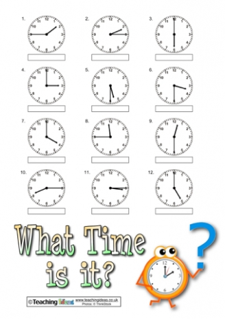 What Time is it? Resources