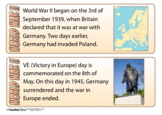 World War II Fact Cards