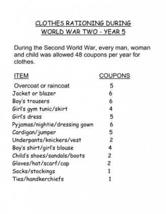 Clothes Rationing