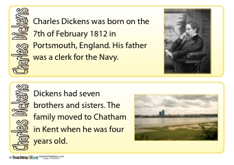 Charles Dickens Fact Cards