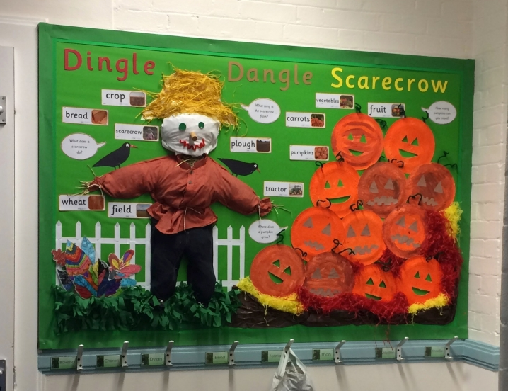 Dingle Dangle Scarecrow Display on Under The Sea Themed Activities