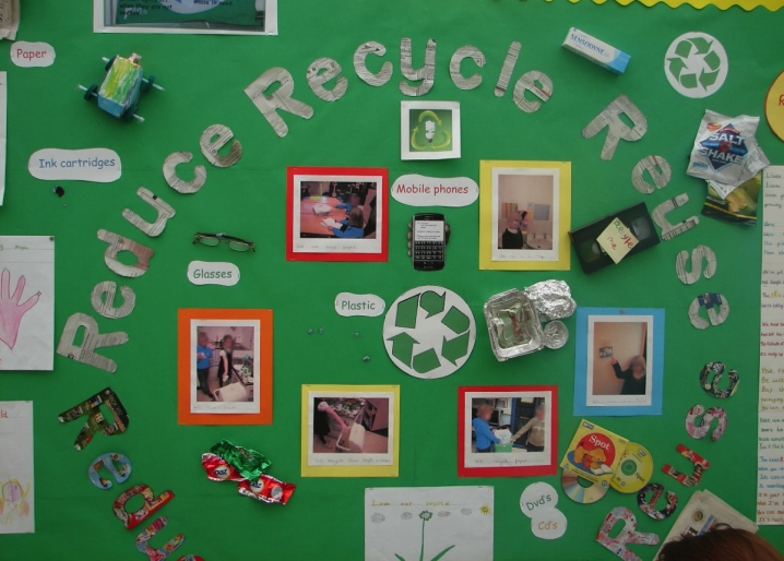 Reduce, Reuse, Recycle Display