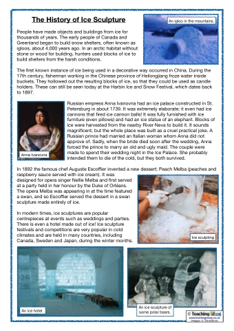 The History of Ice Sculpture