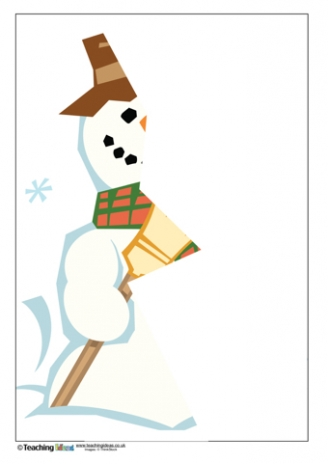 Finish the Picture - Snowman