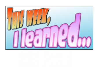 This week, I learned... Poster